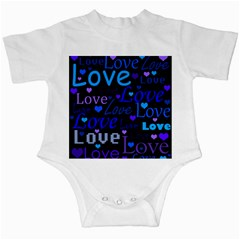 Blue love pattern Infant Creepers