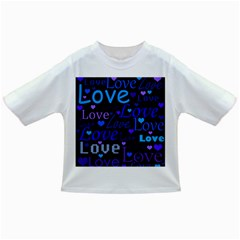 Blue love pattern Infant/Toddler T-Shirts