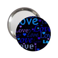 Blue love pattern 2.25  Handbag Mirrors