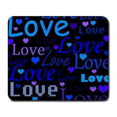Blue love pattern Large Mousepads