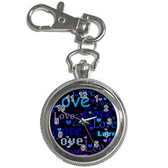 Blue love pattern Key Chain Watches