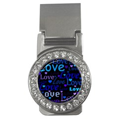 Blue love pattern Money Clips (CZ)