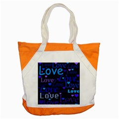 Blue love pattern Accent Tote Bag
