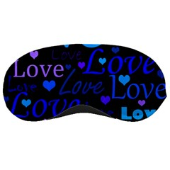Blue Love Pattern Sleeping Masks