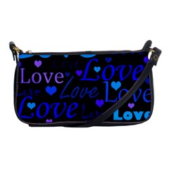 Blue love pattern Shoulder Clutch Bags