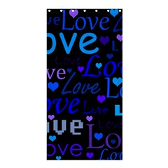 Blue love pattern Shower Curtain 36  x 72  (Stall)