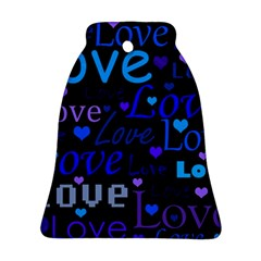 Blue love pattern Bell Ornament (2 Sides)