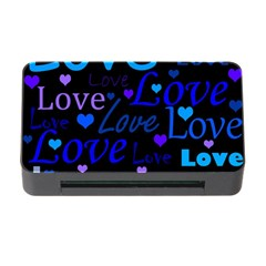 Blue love pattern Memory Card Reader with CF