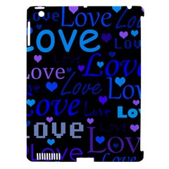 Blue love pattern Apple iPad 3/4 Hardshell Case (Compatible with Smart Cover)