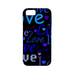 Blue love pattern Apple iPhone 5 Classic Hardshell Case (PC+Silicone)