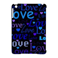 Blue love pattern Apple iPad Mini Hardshell Case (Compatible with Smart Cover)