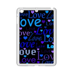Blue love pattern iPad Mini 2 Enamel Coated Cases
