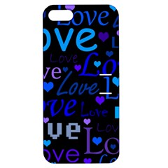 Blue love pattern Apple iPhone 5 Hardshell Case with Stand