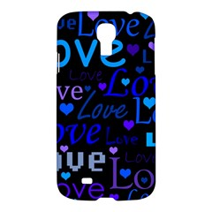 Blue love pattern Samsung Galaxy S4 I9500/I9505 Hardshell Case