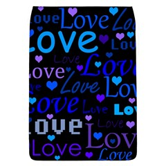 Blue love pattern Flap Covers (L)