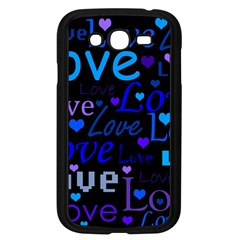 Blue love pattern Samsung Galaxy Grand DUOS I9082 Case (Black)