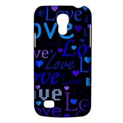 Blue love pattern Galaxy S4 Mini