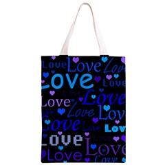 Blue love pattern Classic Light Tote Bag