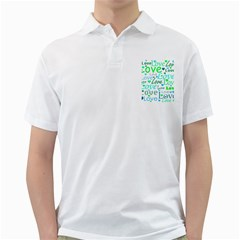 Love pattern - green and blue Golf Shirts
