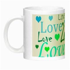 Love pattern - green and blue Night Luminous Mugs