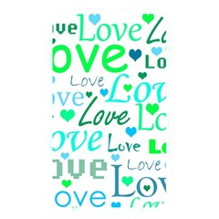 Love pattern - green and blue Memory Card Reader