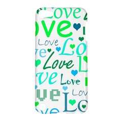 Love pattern - green and blue Apple iPod Touch 5 Hardshell Case