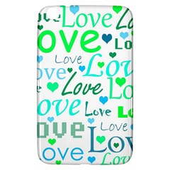 Love pattern - green and blue Samsung Galaxy Tab 3 (8 ) T3100 Hardshell Case