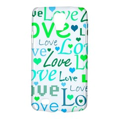 Love pattern - green and blue Galaxy S4 Active