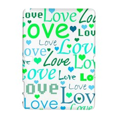 Love pattern - green and blue Galaxy Note 1