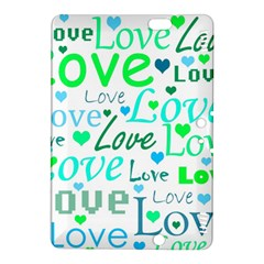 Love pattern - green and blue Kindle Fire HDX 8.9  Hardshell Case