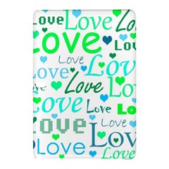 Love pattern - green and blue Samsung Galaxy Tab Pro 10.1 Hardshell Case