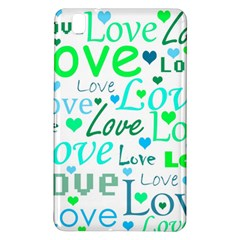 Love pattern - green and blue Samsung Galaxy Tab Pro 8.4 Hardshell Case