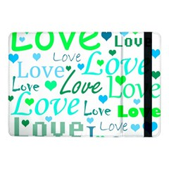 Love pattern - green and blue Samsung Galaxy Tab Pro 10.1  Flip Case