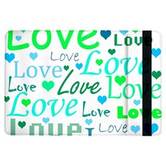 Love pattern - green and blue iPad Air Flip