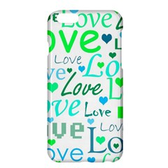 Love pattern - green and blue Apple iPhone 6 Plus/6S Plus Hardshell Case