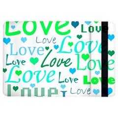 Love pattern - green and blue iPad Air 2 Flip