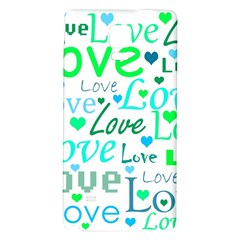 Love pattern - green and blue Galaxy Note 4 Back Case