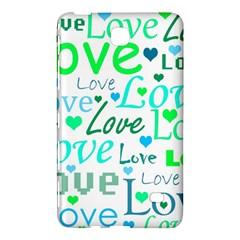 Love pattern - green and blue Samsung Galaxy Tab 4 (7 ) Hardshell Case