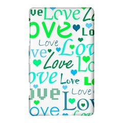 Love pattern - green and blue Samsung Galaxy Tab S (8.4 ) Hardshell Case