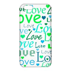 Love pattern - green and blue iPhone 6/6S TPU Case