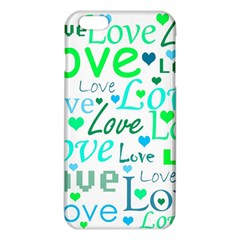 Love pattern - green and blue iPhone 6 Plus/6S Plus TPU Case