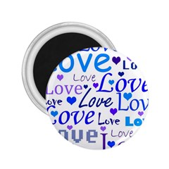 Blue and purple love pattern 2.25  Magnets
