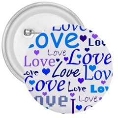 Blue and purple love pattern 3  Buttons