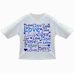 Blue and purple love pattern Infant/Toddler T-Shirts