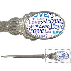 Blue and purple love pattern Letter Openers
