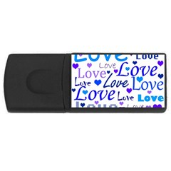 Blue and purple love pattern USB Flash Drive Rectangular (2 GB)