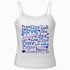 Blue and purple love pattern Ladies Camisoles