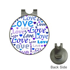 Blue and purple love pattern Hat Clips with Golf Markers