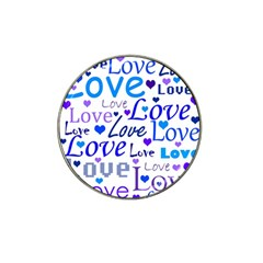 Blue and purple love pattern Hat Clip Ball Marker (10 pack)