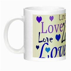Blue and purple love pattern Night Luminous Mugs